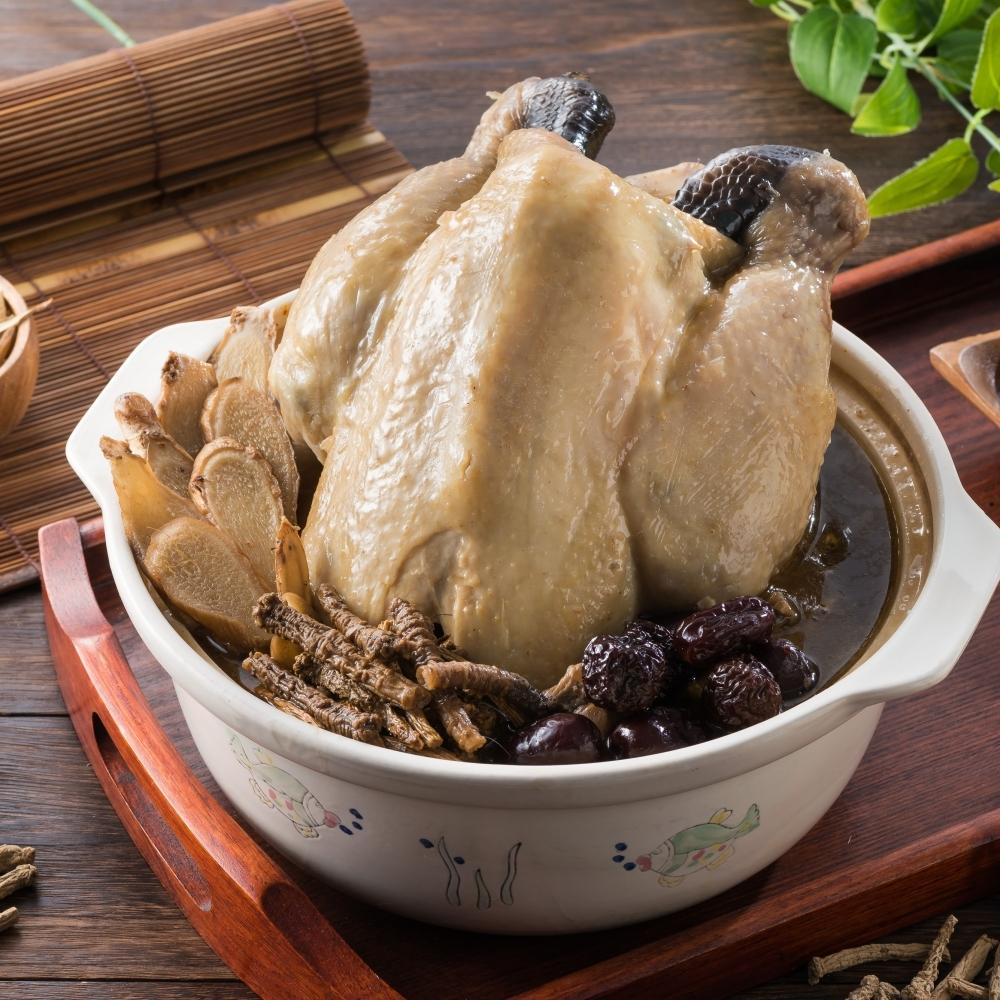 藥膳麻油雞-半雞 1